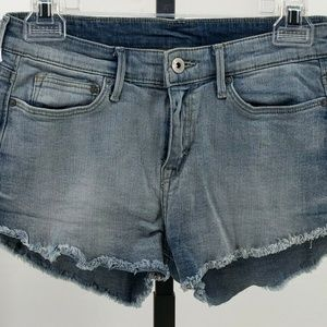 😍  H&M denim cutoff jean shorts sz 4